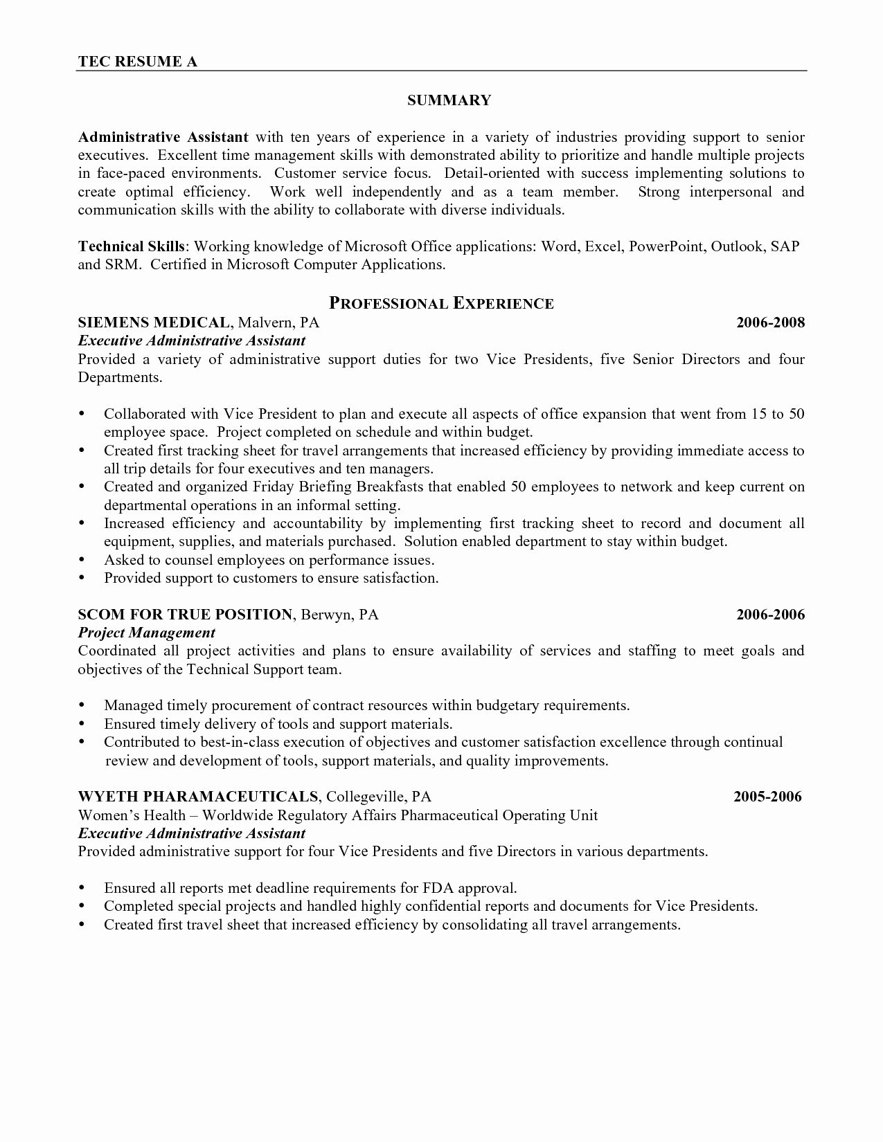 Cover Letter Samples Administrative Assistant Romes